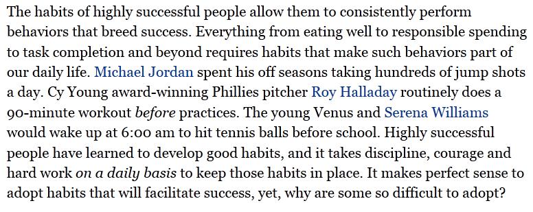 crear un hábito