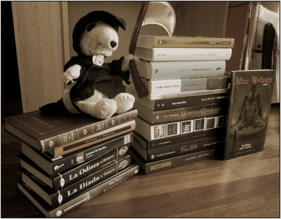 pila de libros